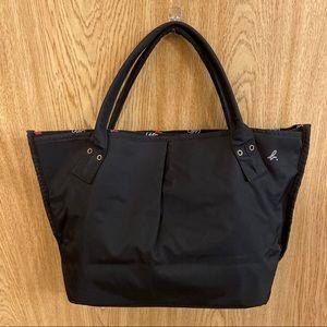 Agnes B Paris black heart linked tote bag